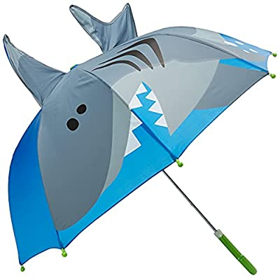 Boys Blue Shark Umbrella with Fins