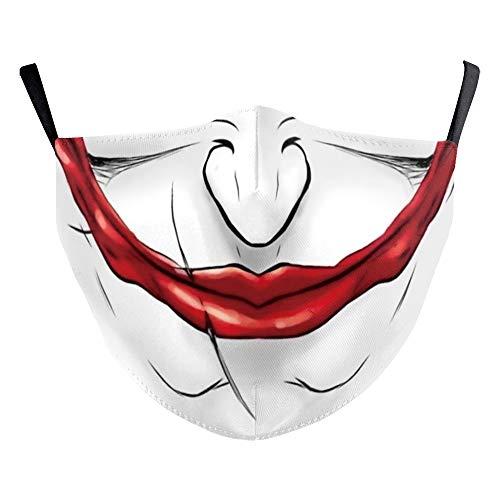 eBouitk - Mascarillas para Halloween con ranura para filtro,...