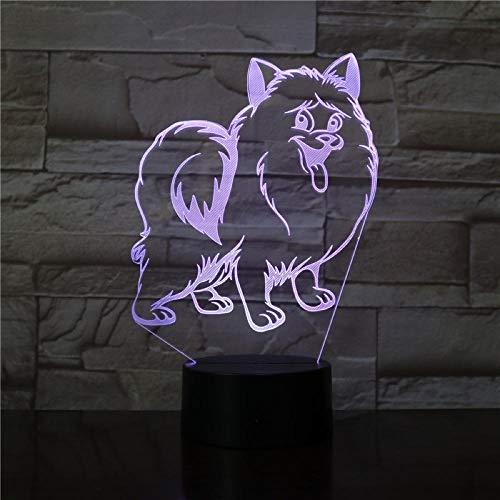 3D-Illusionslicht LED-Nachtlicht Dekorieren Tischlampe Füllen Sie den inneren Finger des Pools rot Kreatives Geburtstagsgeschenk Mit USB-Aufladung bunter Farbwechsel