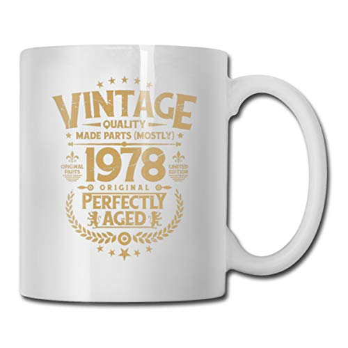 Xu Yishe Vintage 40th Birthday Funny T-shirt 1978 Cousin Gifts Funny Cousins Day Gifts Best Ever Mothers Day Fathers Day Gifts Birthday Coffee Mugs Tea Cups