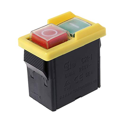 Yushu 250 V 6/4A impermeable electromagnético pulsador máquina sierra cortador taladro encendido apagado KJD6 5E4 interruptor electromagnético impermeable equipo eléctrico y productos interruptores