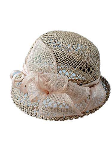 Verano Mujer Retro Sombrero de Paja Curled Hollow Hat Hat Viajes Pequeño Sombrero de Borde Decorativo Sombrero Primavera Y Otoño-Metro_C13
