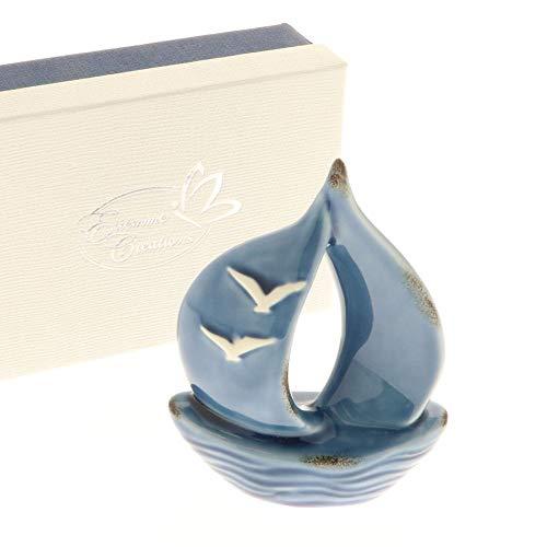 OCEANO Barca veliero porcellana 10x12 cm in scatola regalo BOMBONIERA