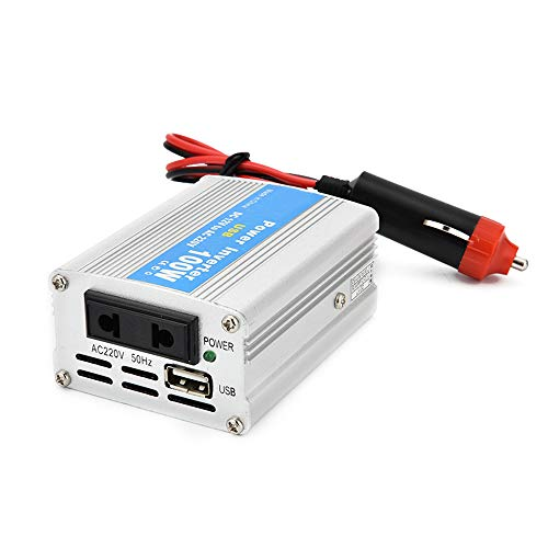 KKmoon Inverter per Auto Portatile, 100W DC 12V to AC 220V, trasformatore convertitore Caricabatterie con Porte USB di Ricarica e Oulets