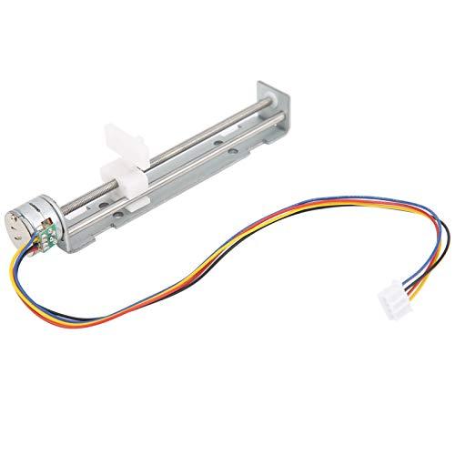 Motor paso a paso de guía lineal, mesa deslizante de tornillo de avance con recorrido deslizante de 80 mm, 2 fases, 4 cables para máquina de grabado láser
