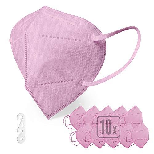 ENERGY BALANCE 10x Pink FFP2 Maske , persönliche Schutzmaske, atmungsaktiv, bequem, zertifiziert und CE-holmologiert (10-PINK)