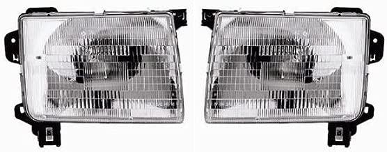 98-00 Nissan Frontier Pickup Truck 00-01 Xterra Headlights Headlamps Pair Set
