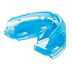 Blue shock doctor double mouth guard for braces