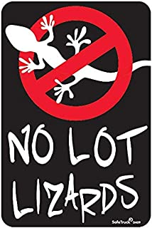 SafeTruck by Ms. Carita No Lot Lizards Decal 6.75 Inch x 4.5 Inch