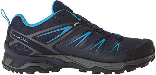 SALOMON Herren X Ultra 3 GTX Men Trekking- & Wanderhalbschuhe, Grau (Graphite/Night Sky/Hawaiian Surf 000), 45 1/3 EU