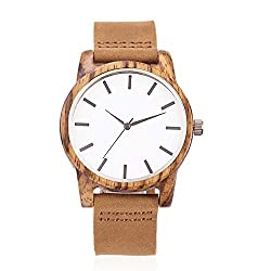 Gift ideas for Him -Casual Personalized Engraved Wooden Watch, for Men, Women, Boyfriends, Girlfriends, Husband and Wives