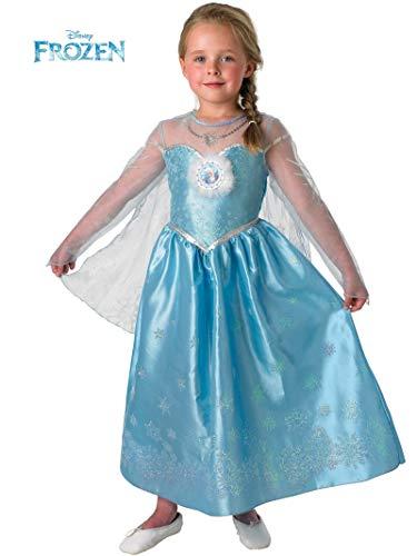 Disney - Elsa - La Reine des Neiges - Costume deguisement Deluxe - Taille 5/6 ans