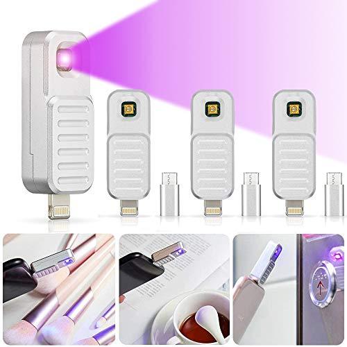 GreenSun UV-Desinfektion Lampe, UV-Sterilisationslampe UV LED Lampe UV-Entkeimungslampe Mobile Tragbar UVC-Sterilisator Licht, 4 Pack
