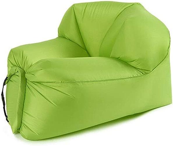 LYQZ Grande Trompette de lit en Plein air d'air portatif de Plage de Voyage de Sofa Gonflable d'enfants Adultes (Couleur   vert, Taille   S)