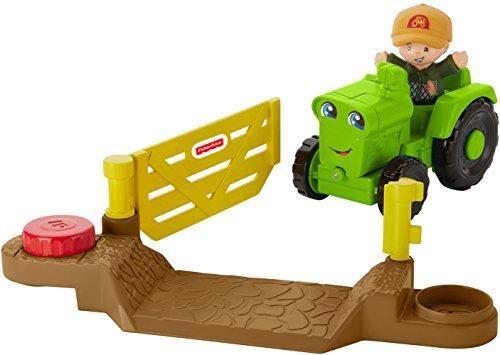 Fisher Price, Little People DWC32 - Fahrzeug Spielset mit Spielfigur - Traktor inkl. Tor mit Öffnungsfunktion