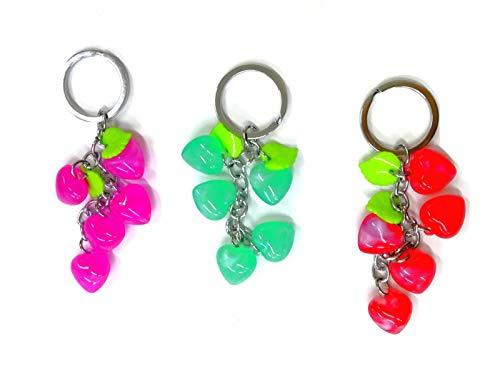 takestop® Set van 12 snoepjes hart hart JK_80504 kleurrijke hartjes geluksbrenger verjaardag sleutelhanger