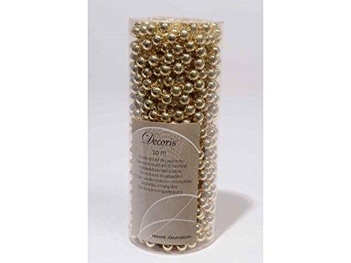 Perlenkette Kunsstoffperlenkette Satingold Baumkette Kette Weihnachtschmuck