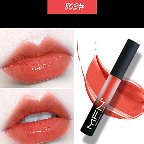 Rouge à LèVres Liquide Gloss Multicolor Transparent Makeup Brillant Maquillage à LèVres,Beauté Brillant à lèvres Femme Lipstick Cosmetics Lips Matte Hydratant Waterproof Lip Gloss Bluestercool