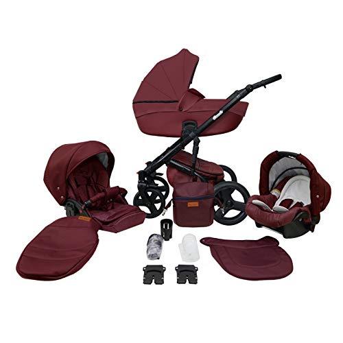 Saintbaby RetroCochecito de Bebé Trio Silla de Coche Grupo 0 Plus Isofix 3en1 2en1 4en1 Comodo Berries 13 3in1 con Silla de coche