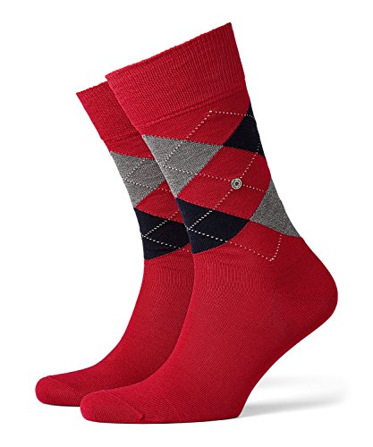 BURLINGTON Herren Socken Manchester - 85{03b73389cf2d06a168f3e84d7e6bc113a8cd873ef96f06b2fc6063a40e1c051f} Baumwolle, 1 Paar, Rot (Coralred 8006), Größe: 40-46