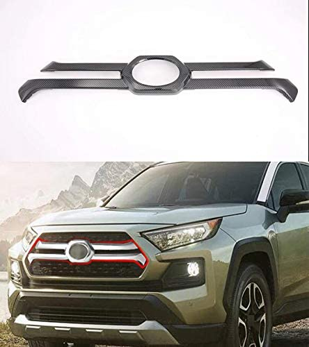 Momoap ABS Carbon Fiber Style Car M Cover Grille Ranking integrated 1st place Front New popularity Central