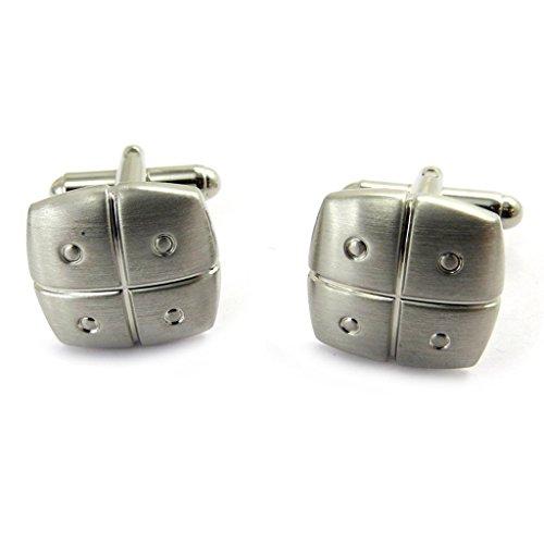 Les Trésors De Lily [M1844 - Boutons de Manchette 'Peaceful' argenté