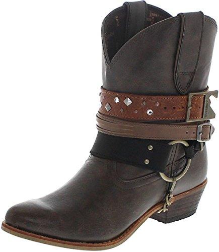 Durango Boots ACCESSORIZE Bootie DRD0121 Brown/Damen Westernstiefelette Braun/Damenstiefelette/Fashion Stiefelette, Groesse:38 (6.5 US)