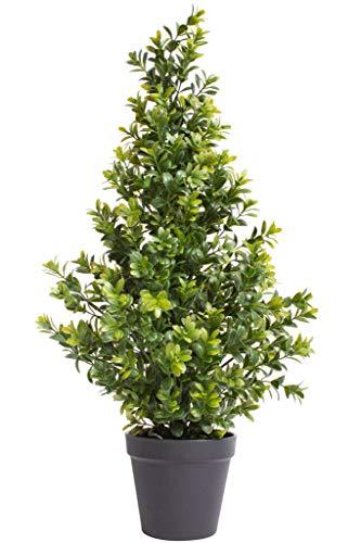 Nova-Nature künstlicher Buchsbaum im schwarzen Kunststofftopf (24 x 60 cm)