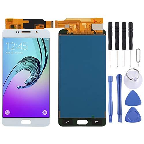 YCZLZ Telefoonscherm voor Samsung Smartphone Reparatie Onderdelen Display Touch Screen LCD-scherm en Digitizer Volledige montage (TFT materiaal) voor Galaxy A7 (2016), A710F, A710F/DS, A710FD, A710M, A710M/DS, A710Y/, Kleur: wit