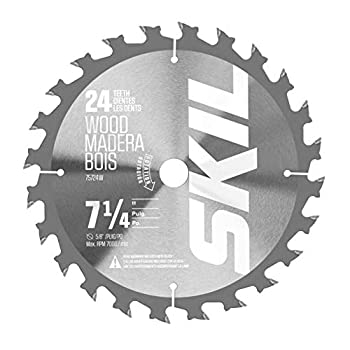 Skil 75724W 7-1/4-Inch 24-Tooth Carbide Tipped Circular Saw Blade for SKIL Circular Saw 5280-01/5180-01/5080-01