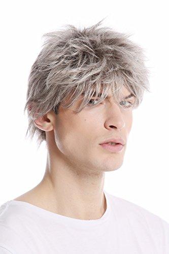WIG ME UP - GFW1169-51 Perruque gris avec noir homme courte jeune décontractée coiffé-décoiffé mode