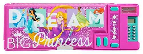 HOVUK Gadget - Estuche para lápices con estampado de personajes de princesa, color rosa grande, para niños de 3 años