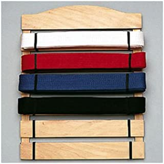 Karate Belt Display Wood Rack - 6 Belts