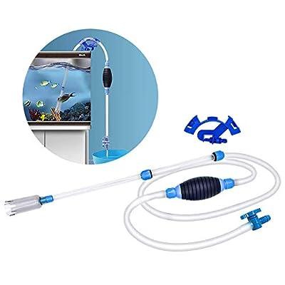 SANTOO Aquarium Reiniger Siphon und Reiniger für Aquarium und Fischtank Wasserwechsler Wasserfilter Syphon Fish Tank Reiniger Gravel Cleaner