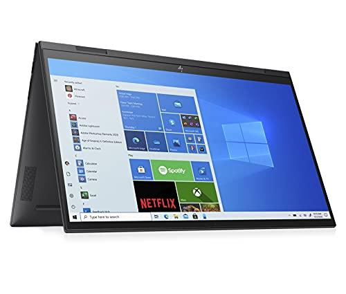 HP ENVY x360 15-eu0078ng (15,6 Zoll / Full HD IPS Touch) 2in1 Convertible Laptop (AMD Ryzen 7 5700U, 16GB DDR4 RAM, 1TB SSD, AMD Grafik, Windows 10, QWERTZ) schwarz, Fingerprintsensor