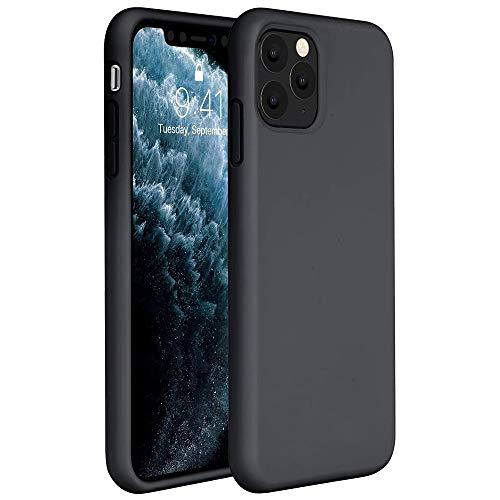 Capa Tpu Fosca Para Iphone 11 Pro Max com Tela de 6.5 Polegadas - Capinha Case De Proteção Ultra Fina Slim Material Silicone Foscovv (Preto)