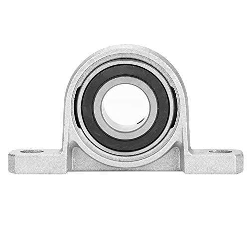 Cojinete de bloque de almohada, 20 mm KP004 Aleación de zinc Diámetro interior de la brida del rodamiento de bolas Autoajuste automático Soporte montado en el centro
