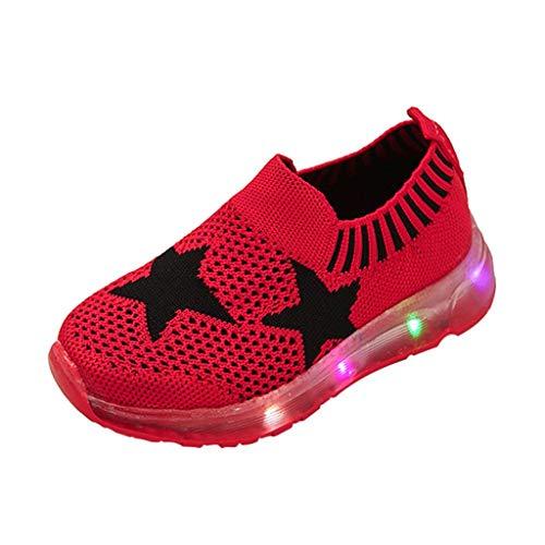 Wanderschuhe Patifia Kleinkind LED Leuchtende Sneakers Baby Mädchen und Jungen Mode Winterschuhe Stern Leuchtendes Kind Bunte Schuhe Kinder Schuhe mit Licht Blinkende Luminous Turnschuhe
