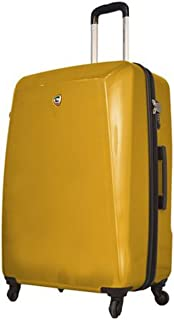 Mia Toro Italy Carbonio Moderno Hardside Spinner Luggage Carry-on-Yellow
