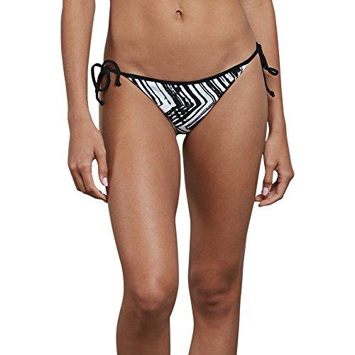 Volcom Damen Stay Tuned Reversible Full Bikini Bottom Tankinioberteil, schwarz, X-Large