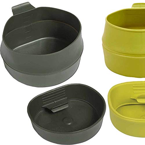 Faltbecher Fold-A-Cup 200 oder 600 ml von WILDO Falttasse Tasse Campingtasse Campingbecher faltbar Lime 200 ml
