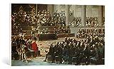 Kunst für Alle Cuadro en Lienzo: Auguste Couder Overture Des États généraux à Versailles - Impresión artística, Lienzo en Bastidor, 75x40 cm