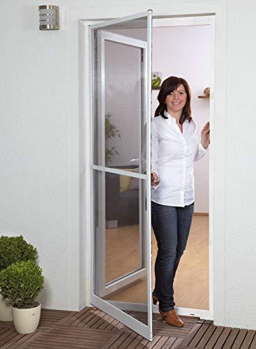 Insektenschutz Fliegengitter Tür Alurahmen PROFI QUALITÄT SLIM IN XL NEU, 120 x 240 cm, ohne Bohren