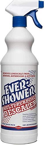 Wiseman Evershower – Detergente spray extra forte da 1 litro – rimuove calcare, ruggine, macchie, grasso e sporco – prodotto per la pulizia a tutto tondo – uccide il 99,99% dei batteri, ecologico