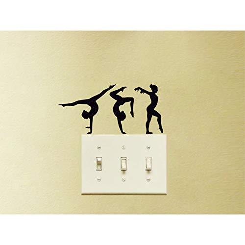 SUPWALS Wandtattoos Modestil Turner Sport Silhouette Schalter Laptop Oder Windows Aufkleber Poster Abnehmbare Klebstoffe Wandbilder Vinyl Aufkleber 8X16Cm