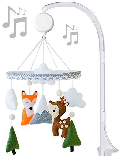 Handmade Baby Mobile with Crib Arm