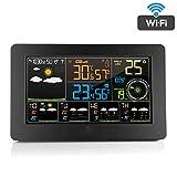 Lcme Digital-Wetterstation, Wecker für Schlafzimmer mit Wetterstation, Wireless Indoor Outdoor Thermometer, Temperatur-Feuchtigkeits-Monitor-Messgerät Hygrometer