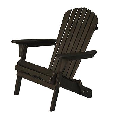 Carabelle Patio Outdoor Lawn & Garden Deck Villaret Adirondack Wood Chair (Dark Brown)