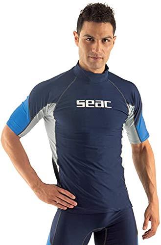 SEAC RAA Short EVO Camiseta para Snorkeling y Natación con Protección UV, Hombre, Azul Claro, M