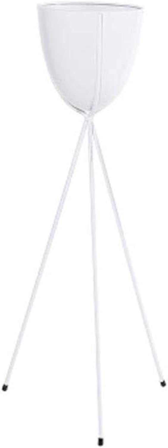 Flower Stand-Metal Floor-Standing Green Plant Storage Rack, Simple Balcony Living Room Room Built-in Rack (color   White, Size   L)